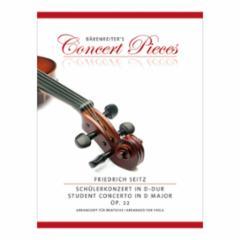 Student Concerto in D major, Op. 22 for Viola