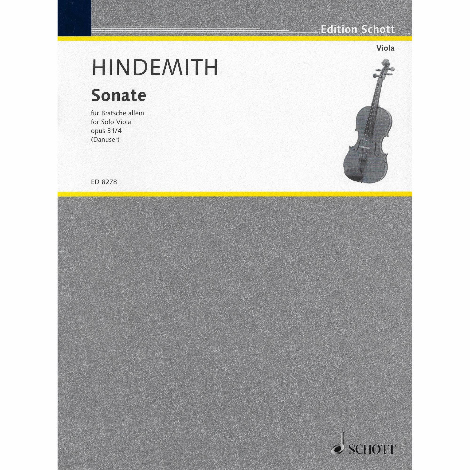 Viola Sonata, Op. 31, No. 4