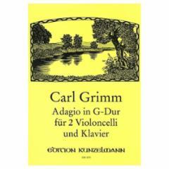 Adagio in G Major for Two Violoncelli and Klavier