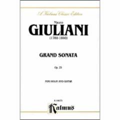 Grand Sonata Op. 25 for Violin and Guitar