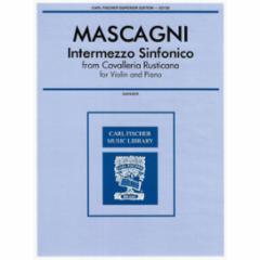 Intermezzo Sinfonico for Violin and Piano