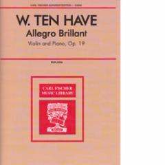 Allegro Brillante, Op.19 for Violin and Piano