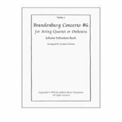 Brandenburg Concerto No. 6 Arranged for String Quartet or Orchestra (Grade 4)