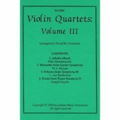 Violin Quartets:III