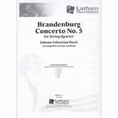 Brandenburg Concerto No.5 for String Quartet