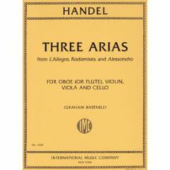 Three Arias for Oboe, Violin, Viola, and Cello