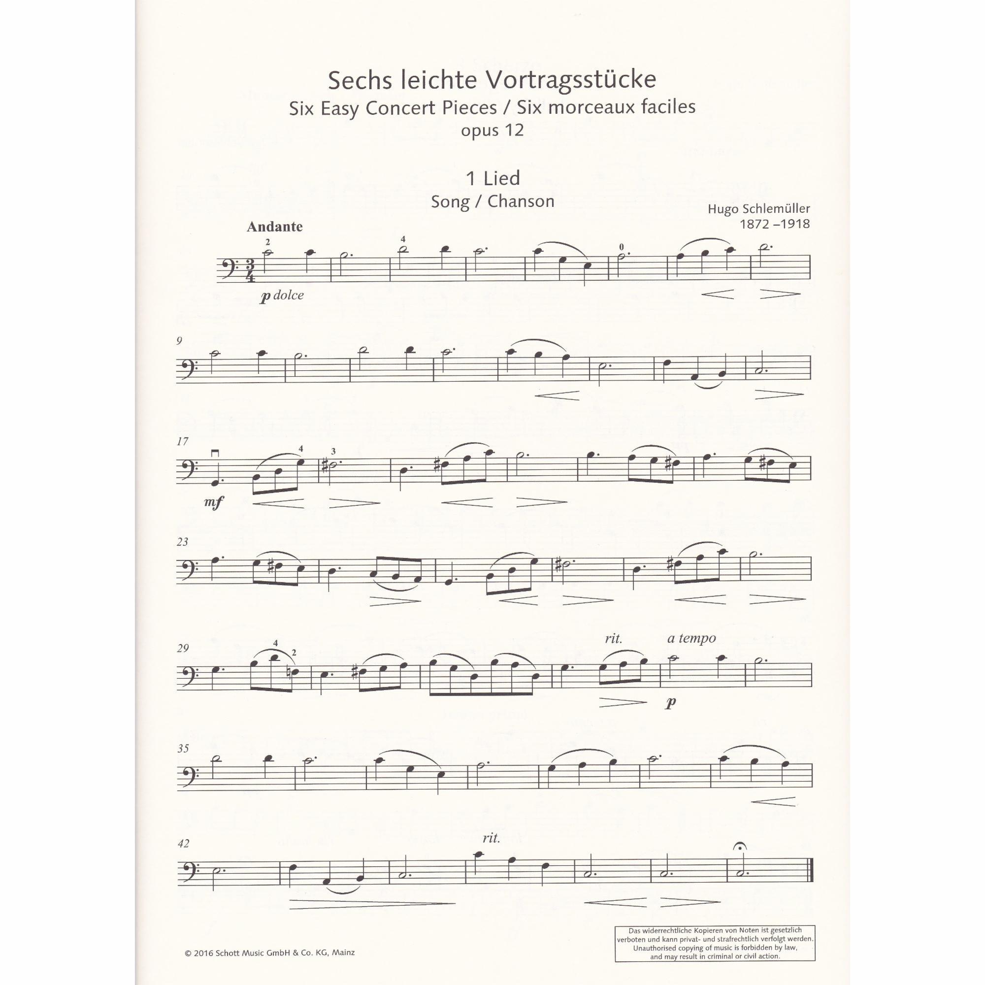 Cello and Piano 2 Easy Concert Pieces